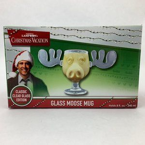 Christmas Vacation Moose Mug | Classic Clear Glass